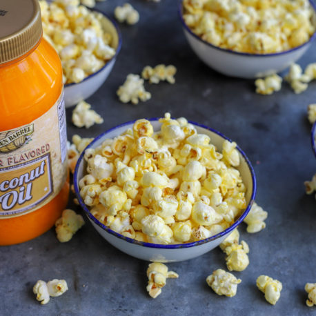 Popcorn made with Golden Barrel Butter Flavored Coconut Oil