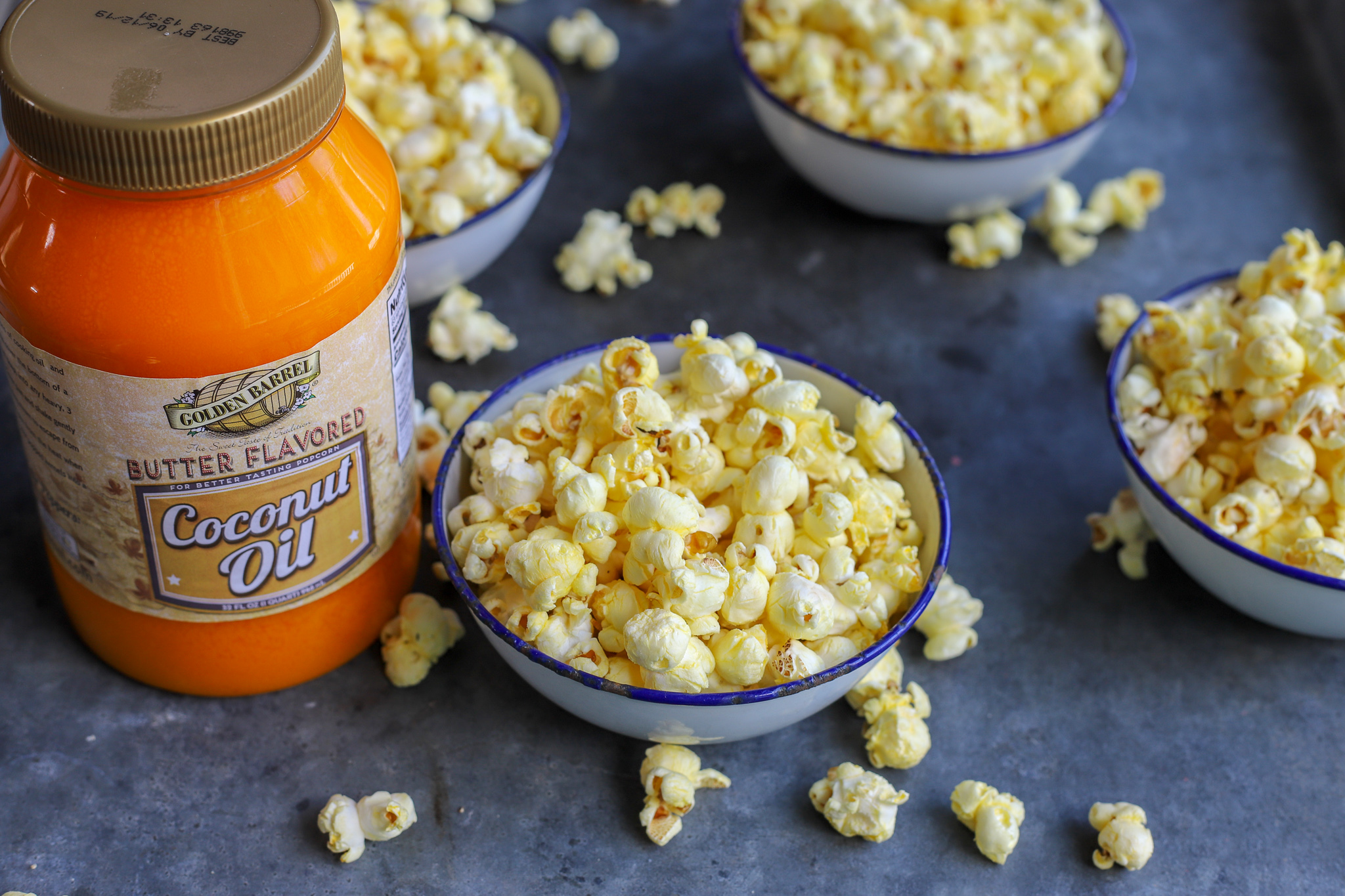 Homemade Butter Flavored Coconut Oil Popcorn Golden Barrel