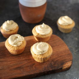 Brown Butter Cupcakes with Sweet Molasses Buttercream Icing