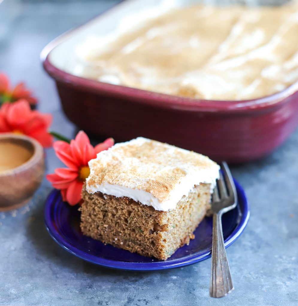 Brown Sugar Cinnamon Zucchini Cake