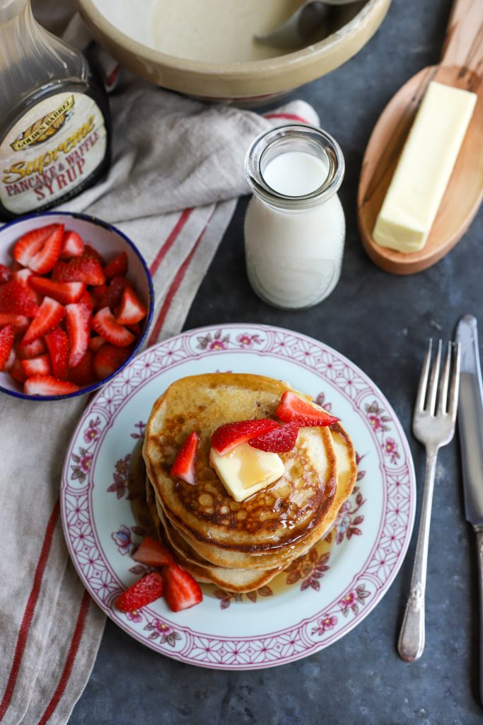 Buckwheat Pancakes with Golden Barrel Supreme Pancake Syrup