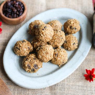 Oatmeal Cinnamon Raisin Energy Balls