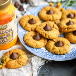 Butter Flavored Coconut Oil Peanut Butter Blossoms