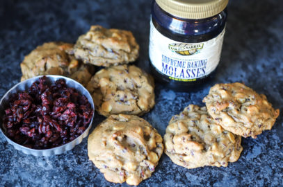 Cranberry White Chocolate Chip Molasses Cookies