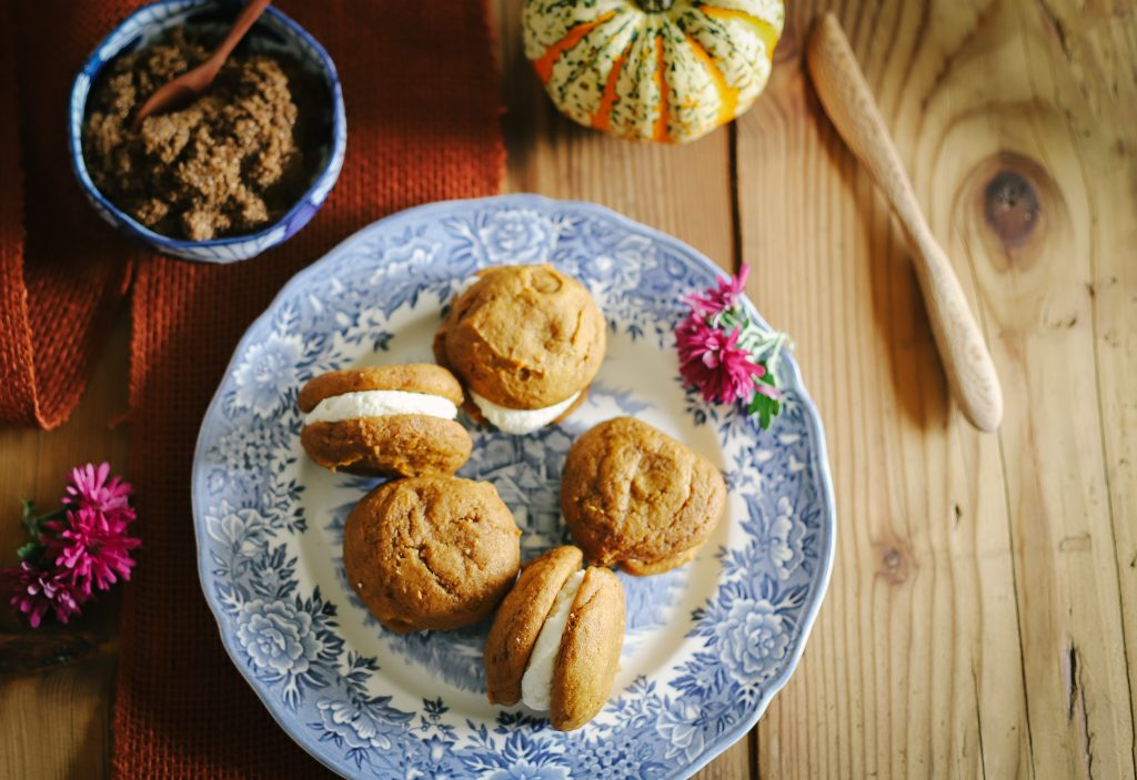 Pumpkin Whoopie Pies with Buttercream Filling