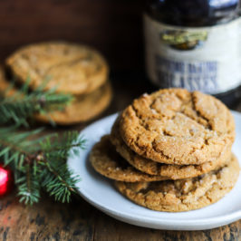 Chewy Double Ginger Molasses Cookies