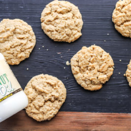 Chewy Peanut Butter Oatmeal Cookies