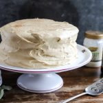 Gingerbread Cake with Molasses Cream Cheese Icing