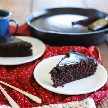 Chocolate Fudge Skillet Cake