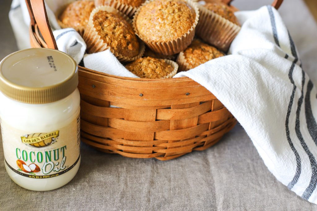 Maple Oatmeal Muffins with Golden Barrel Coconut Oil