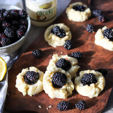 Lemon-Blackberry Thumbprint Cookies