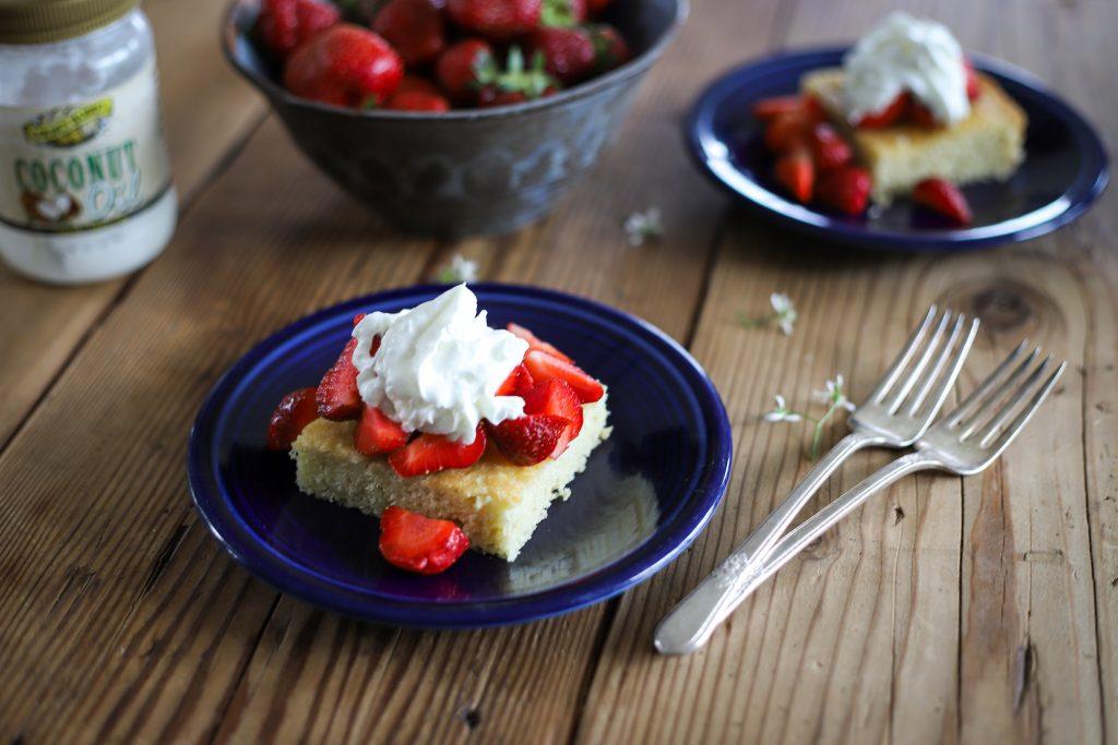 Strawberry Shortcake with Golden Barrel Coconut Oil