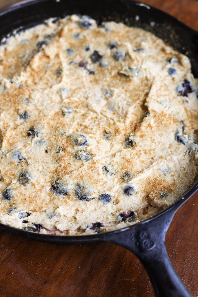 Easy Skillet Blueberry Cake