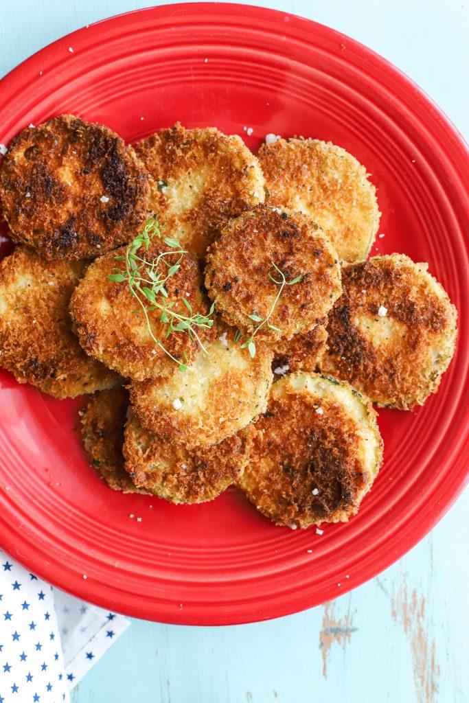 Parmesan-crusted Zucchini Crisps