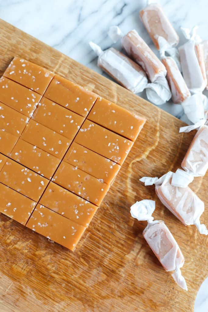 Chewy Homemade Salted Caramels