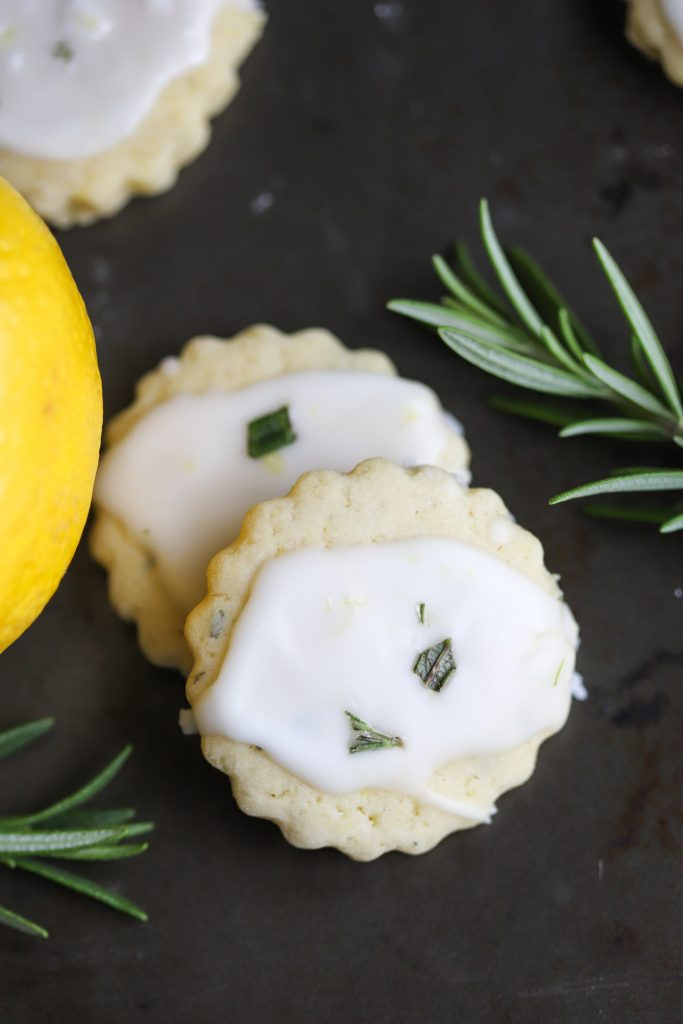 Lemon Rosemary Shortbread Cookies