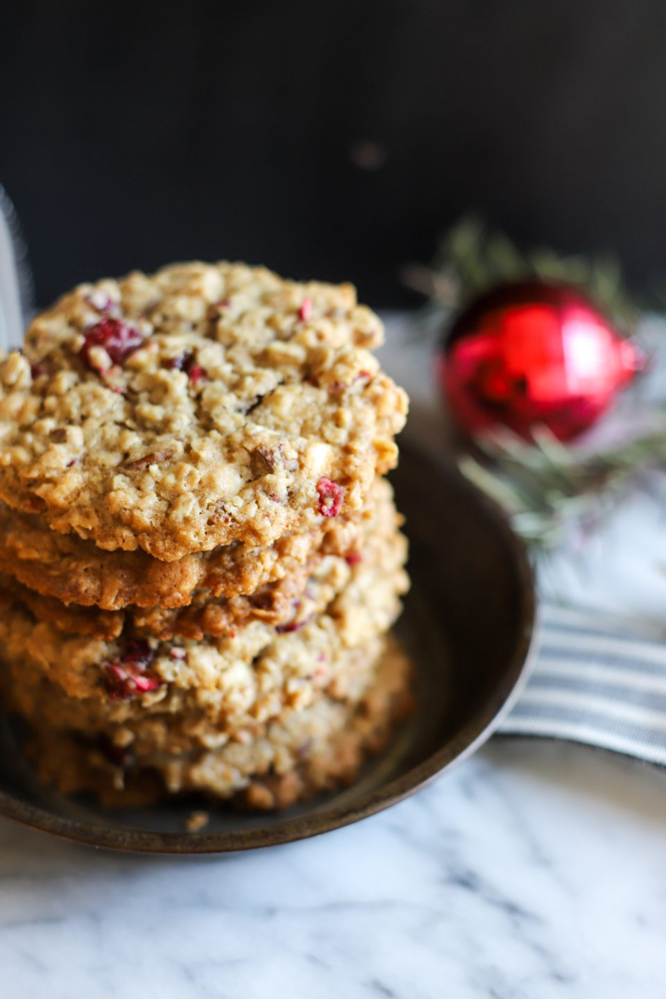 Cranberry Oatmeal Pecan White Chocolate Chip Cookies