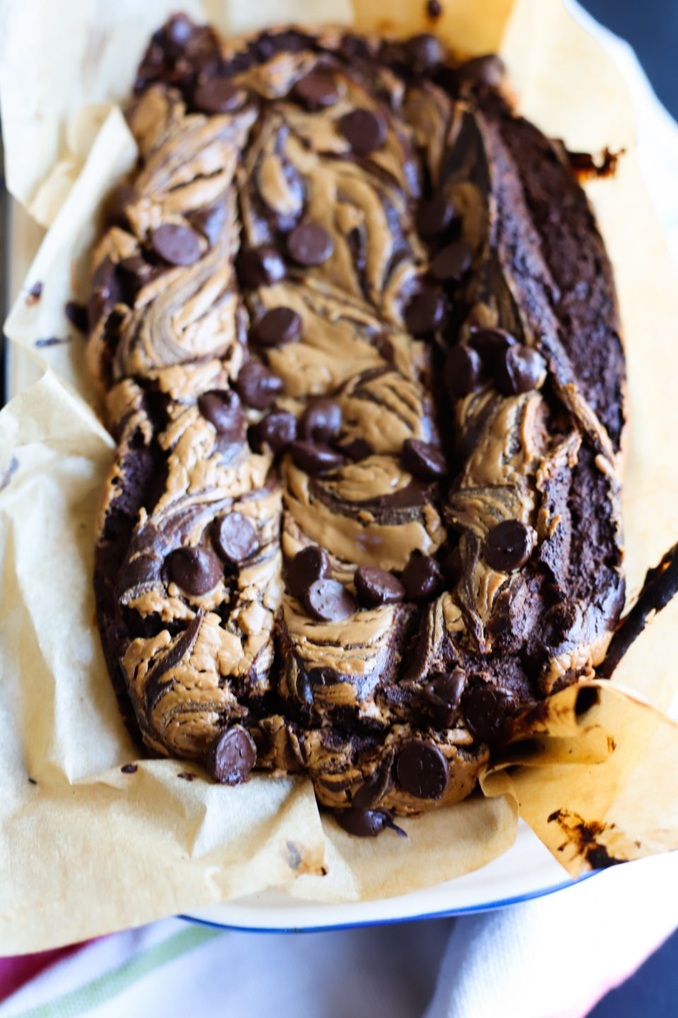 Flourless & Refined Sugar Free Chocolate Banana Peanut Butter Bread